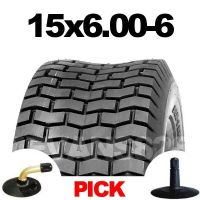 15x6.00-6 TYRE & TUBE SET FOR RIDE ON LAWM MOWERS 15 6.00 6